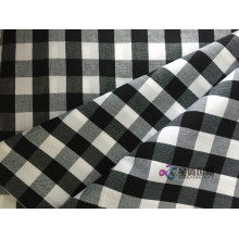 White And Black Check Plain Fabric