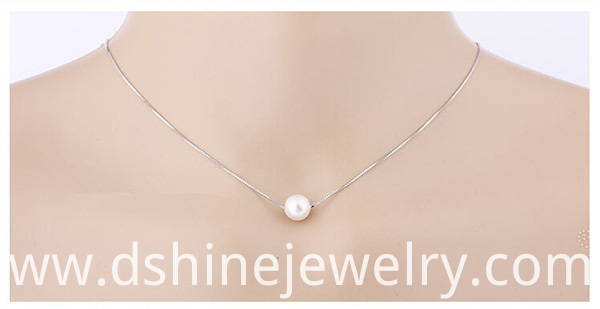 Single Pearl Pendant Necklace