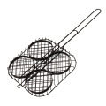 Non-stick Hamburger bbq wire grill basket