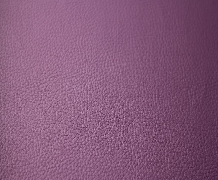 Purple color french terry PVC leather for car seat