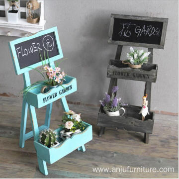 Rustic Wood mini chalkboard menu antique standing blackboard