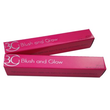 Pink Folding Glossy Custom Lipstick Box