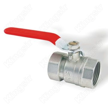 Brass Ball Valve for Plumbing Nickel Plated