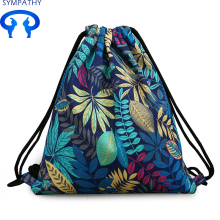Custom-made fresh drawstring double shoulder rucksack