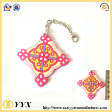 ODM for Rubber Keychain Cheap 3d 2d logo rubber label keychain supply to Italy Manufacturer