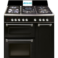 Black Triple Cavity Dual Fuel Range Cooker