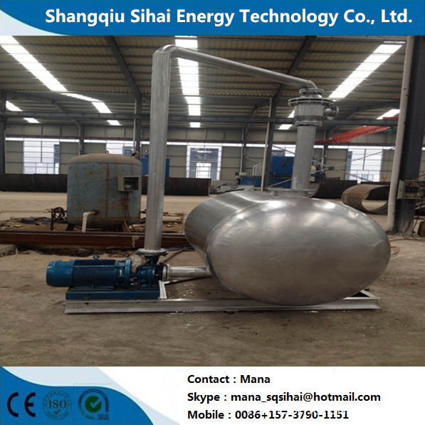 Continuously distillation plant for waste oil