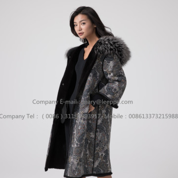 Mink Fur Overcoat For Lady Reversible