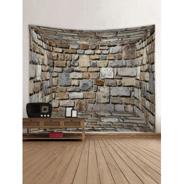Three-Dimensional Wall Tapestry Brick Tapestry Wall Hanging Tapestry Polyester Print for Livingroom Bedroom Home Dorm Decor