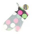 Silicone  oven gloves with colorful circle pattern