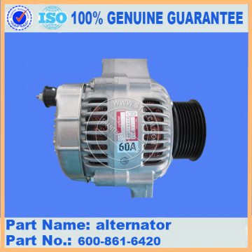 PC200-8 alternator 600-861-6420 komatsu excavator parts