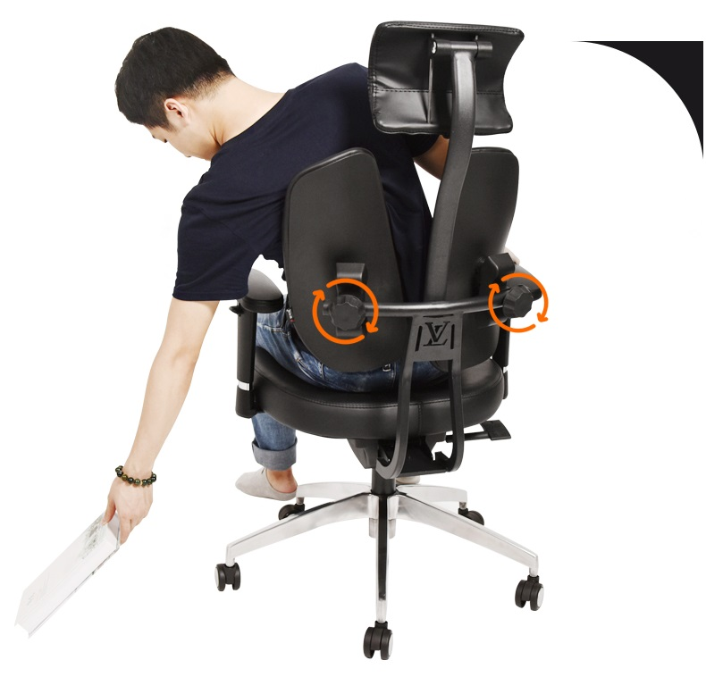 Dual-Back Ergonomic Office Chair