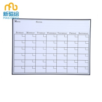 Magnetic Monthly Dry Erase Calendar for Refrigerator