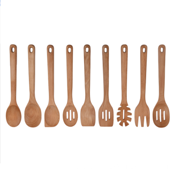 Wooden cooking utensils set