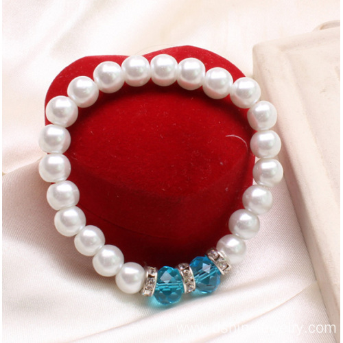 Pearl Bracelet Wholesale Crystal Bead Bangle Wedding Jewelry