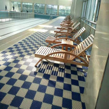 Modular Plastic Interlock Floor Tiles In Swimming Pool