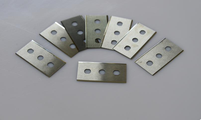 Tungsten Carbide Three Hole Knife Blade