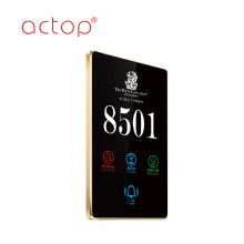 Touch screen hotel room number signs door plate