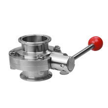 food grade stainless steel butterfly valve