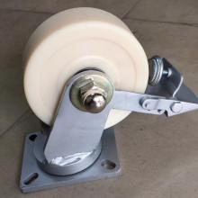 6'' Extra duty MC nylon swivel brake castor