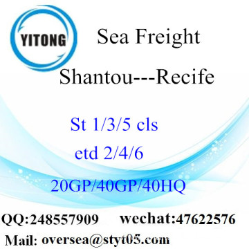 Shantou Port Sea Freight Shipping To Recife