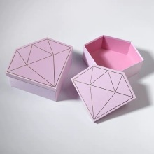 Pink and Black Diamond Shape Paper Box