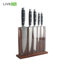 OEM for Kitchen Knife Set 5pcs Kitchen Knives Magnetic Wooden Block supply to Armenia Manufacturer