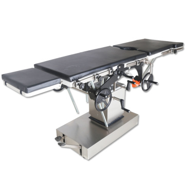 Hospital surgical mechanically operating theatre table