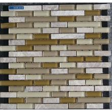 Beige Strip Material Mixed Mosaic Tile