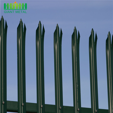 Yard ornamental black  palisade fence