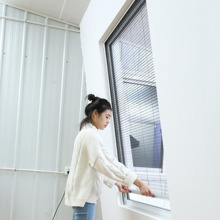 plissee sliding screen window with strong cord