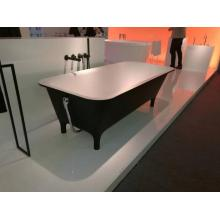Pure acrylic free standing black bathtub for bathroom
