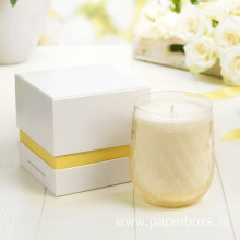 Lid And Base Paper Gift Box For Candle