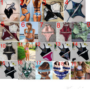 100 New Swimsuit Bbikini Two Triangular Bikini Swimsuit