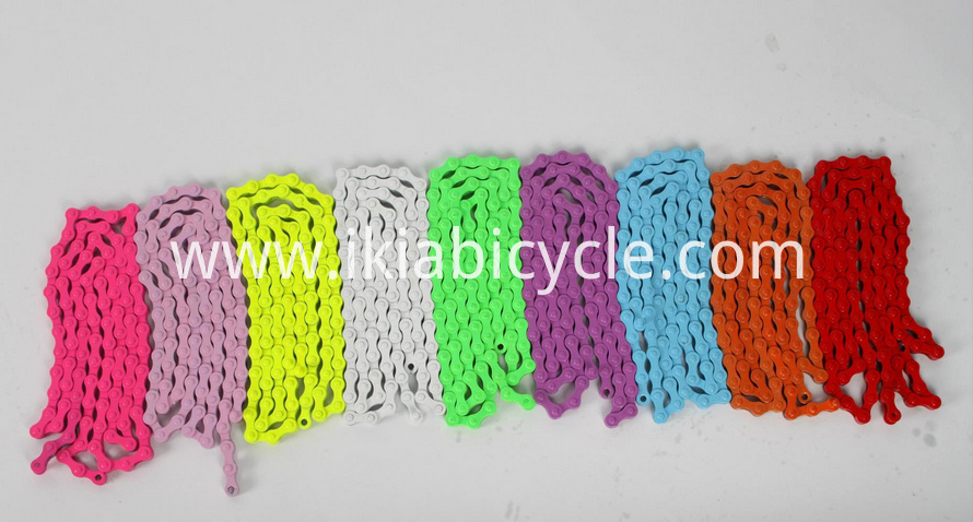 colorful bike chain