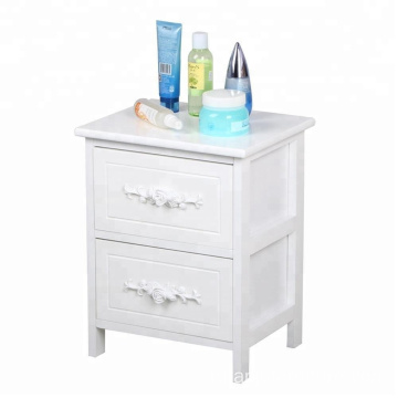 1 Pair Of White Shabby Chic Drawer nightstand Cabinet