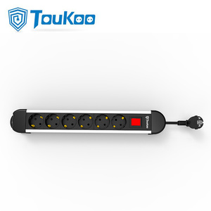 Factory selling for USB Ports Electric Socket 6 Outlet Extension 6 outlet German power strip export to Indonesia Factories
