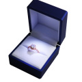Blue Plastic LED Light Jewelry Box for Ring