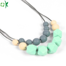 BPA Free Silicone Teething Beads Necklace for Baby