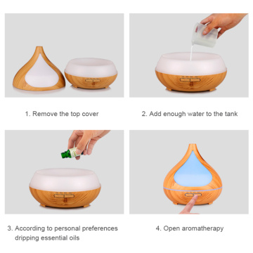 400ml Wood Grain Color Aromatherapy Essential Oil Diffuser