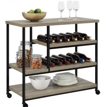 Kitchen Trolley Shelves with Stainless Steel Top Types