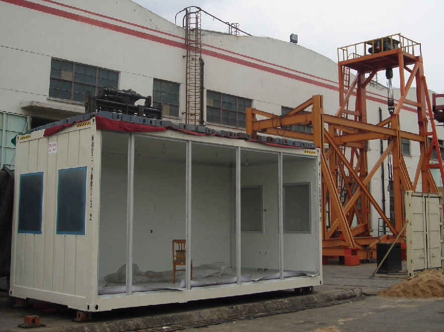roof loading test for Modular Accommodation Building Container Type