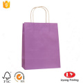 printed kraft paper gift bag with handle