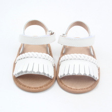 New Design Moccasins Cute Baby Leather Girl Sandals