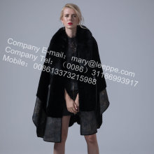 Australia Women Merino Shearling Cape Coat