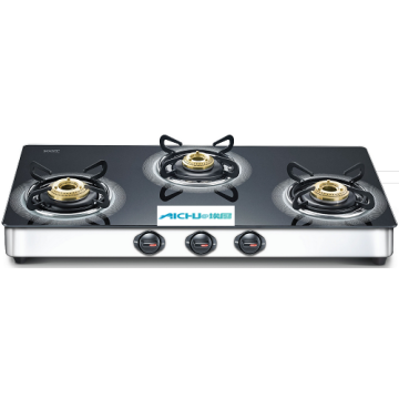 3 Burners Plus Schott Glass Top Gas Stove