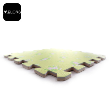 Yellow Flowers Transfer Printing EVA Foam Puzzle Mat