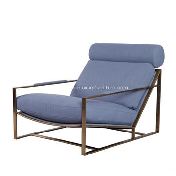 Milo Lounge Chair with Brass Plated Steel Frame