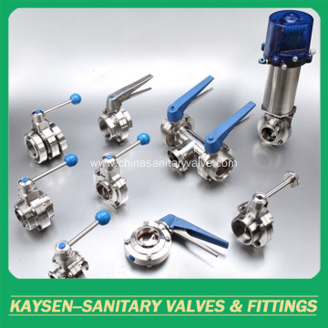 Butterfly Valves Sanitary Intelligent Pneumatic
