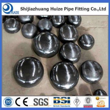 A 234 WPB Pipe Fitting Cap with Black Painting